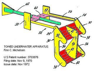 Paravane (water kite) water kite