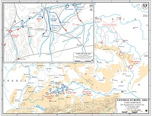 Battle of Donauwörth - Movements on 7, 8 and 9 October 1805.