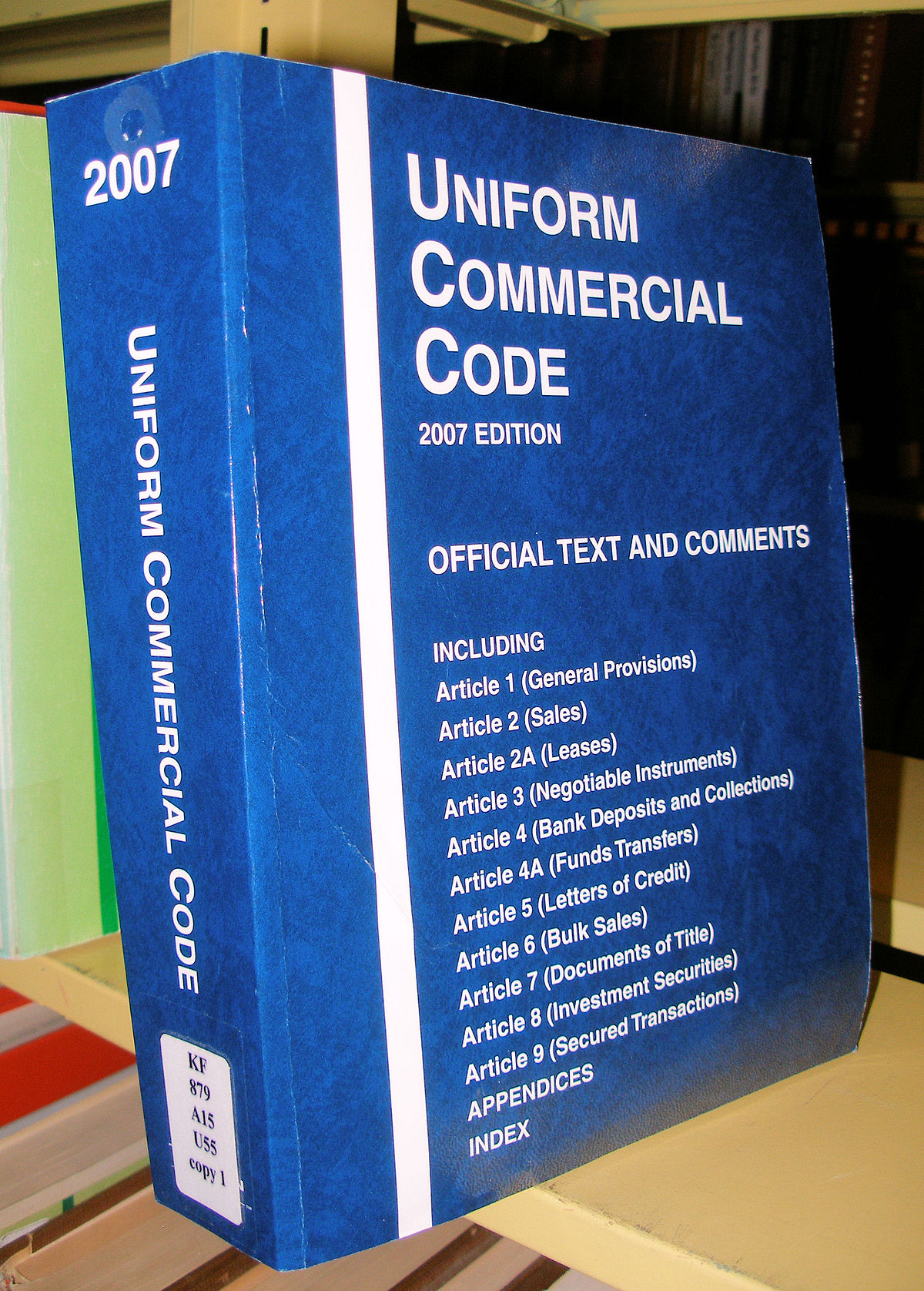 Uniform Commercial Code - Wikipedia