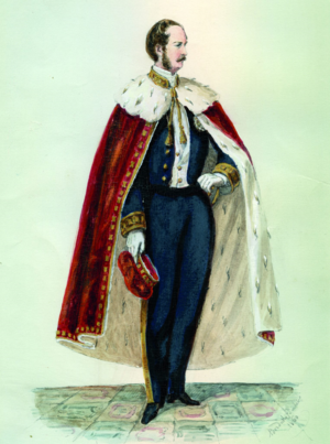 Chamber of Most Worthy Peers - The uniform of Peers of the Realm while the Chamber was in session; 1860.