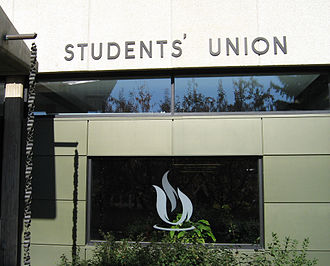 University of Alberta Students' Union - Signage near the south entrance to the Students' Union Building.