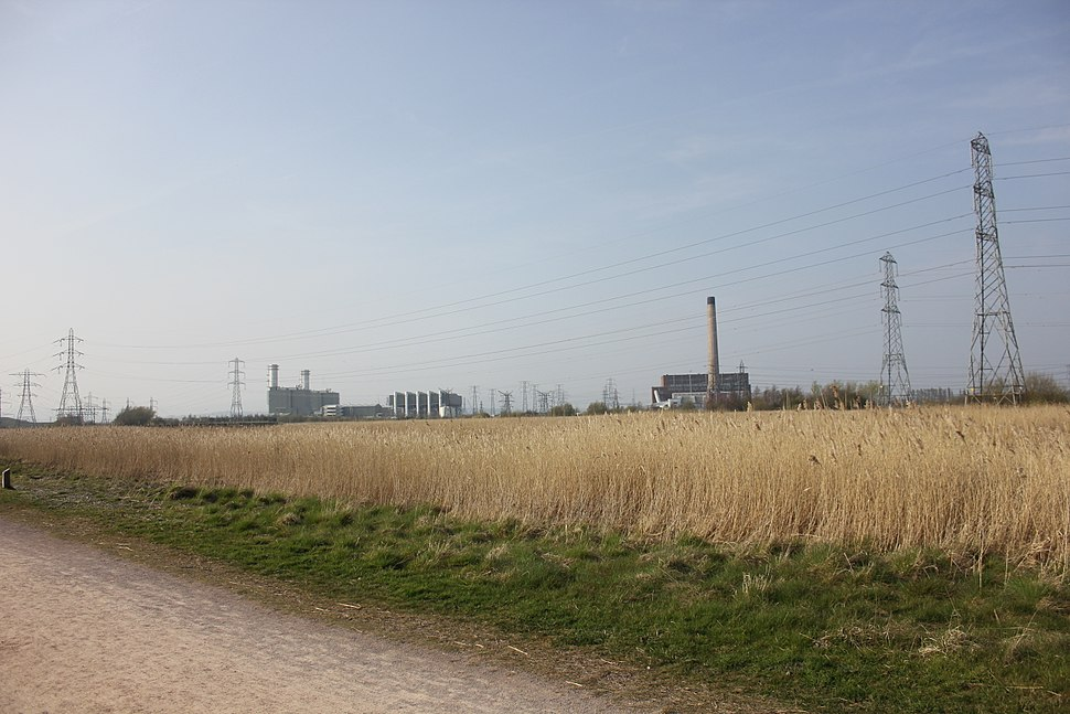 Uskmouth Power Station from Newport Wetlands Centre