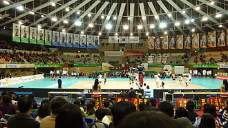 Suwon Gymnasium - Image: V league 2012 13 KEPC Ovs Samsung