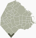 Location of Villa Riachuelo within Buenos Aires