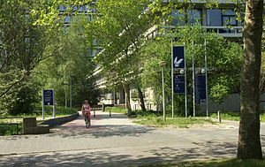 Vrije Universiteit Amsterdam - Former eastern entrance to the campus, since 2010 the location of a new building for the Faculty of Law.