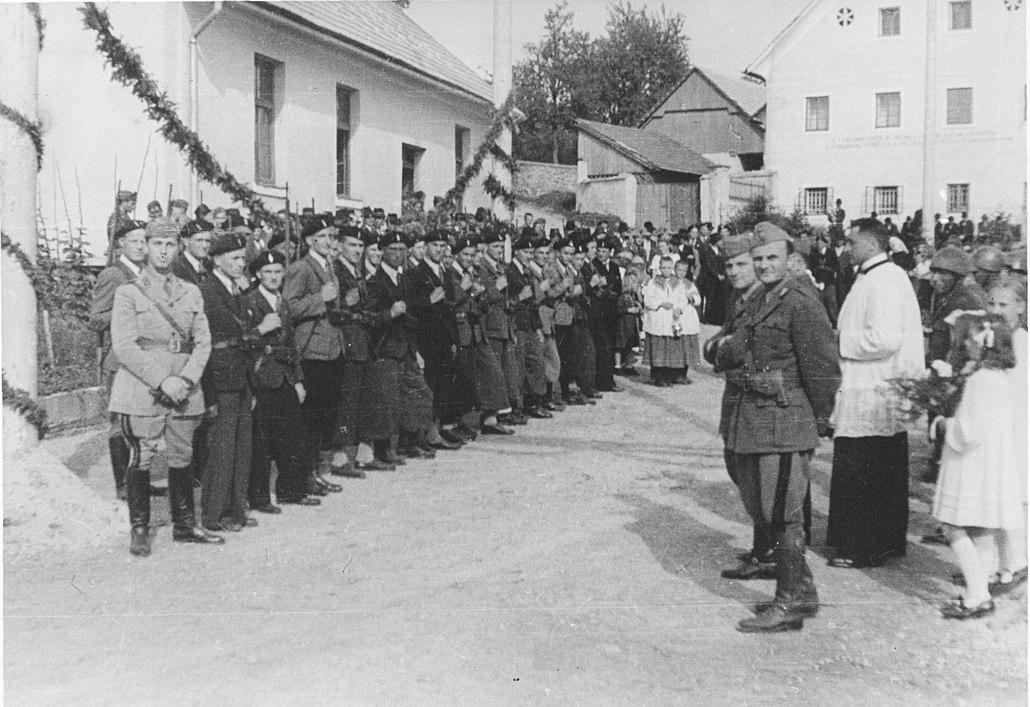 guardia civica slovena con militari italiani