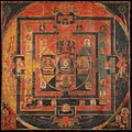 Vajradhatu Mandala Painting, Tibet, 11th Century AD. Pigment on cotton.jpg