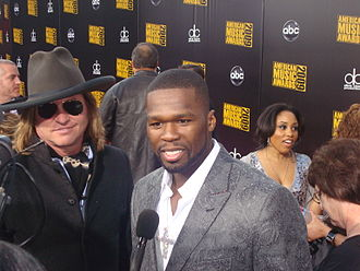 50 Cent - With Val Kilmer at the 2009 American Music Awards