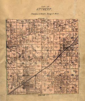 Antwerp Township, Michigan - Image: Van Buren County Michigan 1906 Antwerp Township
