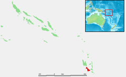 Location of Malakula within Vanuatu