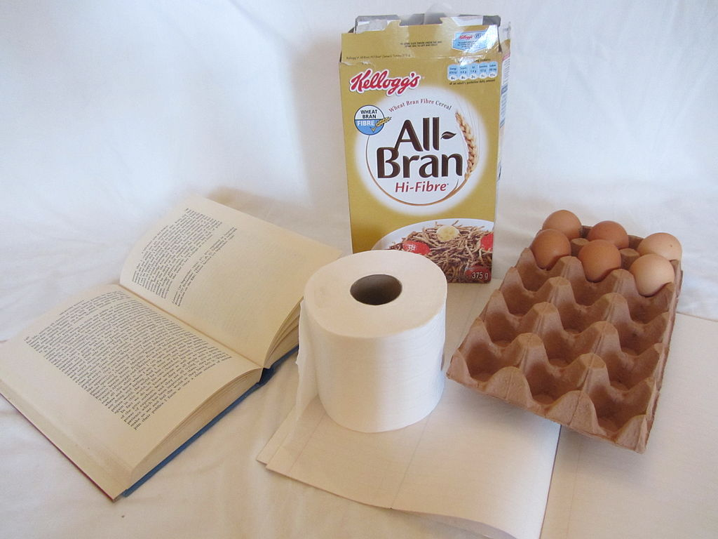 Various products made from paper