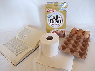 Paper - Paper products: book, toilet paper, Ruled paper, carton, egg box