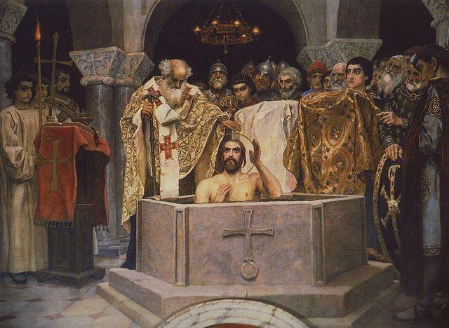 Крещение князя Владимира. Фреска Виктора Васнецова во Владимирском соборе в Киеве