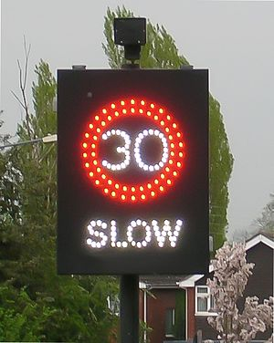 Road speed limit enforcement in the United Kingdom - Vehicle activated sign