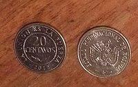 Veinte Centavos De Boliviano Jpg