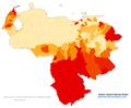 Venezuela 2011 Ameridian population proportion map.png