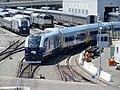 Venture test train at Oakland Maintenance Facility (1), July 2020.JPG