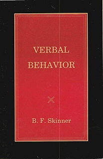 <i>Verbal Behavior</i> Psychology book