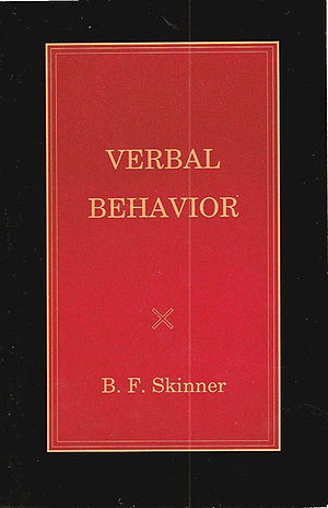 Cover of Verbal Behavior by B.F.Skinner