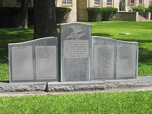 Kimble County, Texas - Veterans Memorial at Kimble County Courthouse