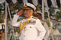 Vice Admiral Satish Soni taking the salute at the 2015 Republic Day Parade at ENC.JPG