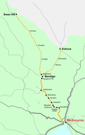 Deniliquin line map