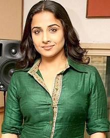 Vidya Balan looks directly at the camera