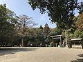 View in front of grand torii of Miyazaki Shrine 2.jpg