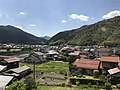 View of Tsuwano Town from train near Tsuwano Station.jpg