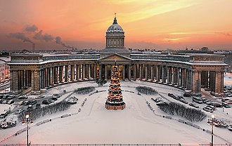 Empire style - Kazan Cathedral in Saint Petersburg.
