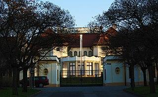 Kramářs Villa building in Prague, Czech Republic; official residence of the Prime Minister of the Czech Republic