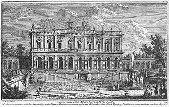 Alessandro Albani - A mid-18th-century view of the Villa Albani by Giuseppe Vasi.
