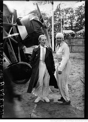 Edith Clark - Edith Clark (left) and Hélène Boucher at an aviation event in Vincennes in 1934