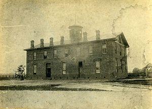 Scotland Neck, North Carolina - Vine Hill Male Academy in Scotland Neck, late 19th century