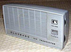 Koyo Electronics Corporation Limited - Image: Vintage Eldorado 6 Transistor Radio, Model 6TS2, Made in Japan, Same Radio as the Koyo KR 6TS2 (12093823464)