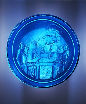 Virgin and Child with Four Angels (Donatello) - Glass mould of The Virgin and Child with Four Angels, before 1456, Donatello, V&A Museum no. A.1-1976