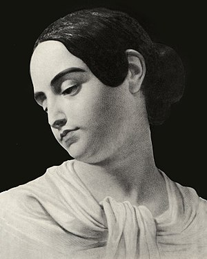 Virginia Eliza Clemm Poe - Virginia Poe, as painted after her death