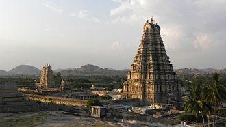 Virupaksha Temple, Hampi - Image: Virupaksha Temple from the top