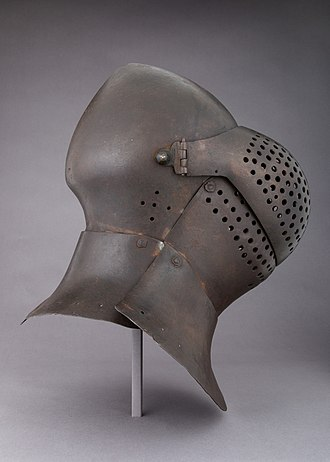 Bascinet - German great bascinet of the mid 15th century, with rounded visor
