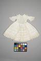 Vit barnklänning ev. 1867 - Livrustkammaren - 86882.tif
