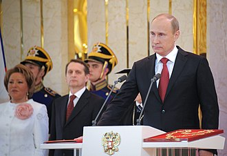 President of Russia - Vladimir Putin takes the Presidential Oath in 2012.