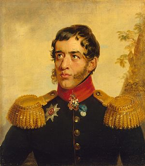 Sergey Volkonsky - Volkonsky's portrait from the Military Gallery of the Winter Palace, by George Dawe