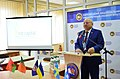 Volodymyr S. Pomomarenko on the Opening of the Startup-center at S. Kuznets KhNUE. 10.2013.jpg