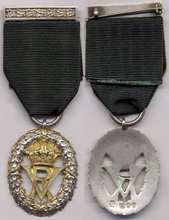 Volunteer Officers' Decoration - Queen Victoria version