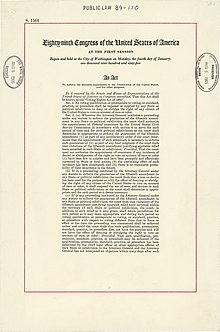 Voting Rights Act Of 1965 Wikipedia