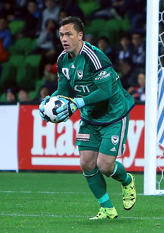 Danny Vukovic - Vukovic playing for Melbourne Victory in the 2015 FFA Cup
