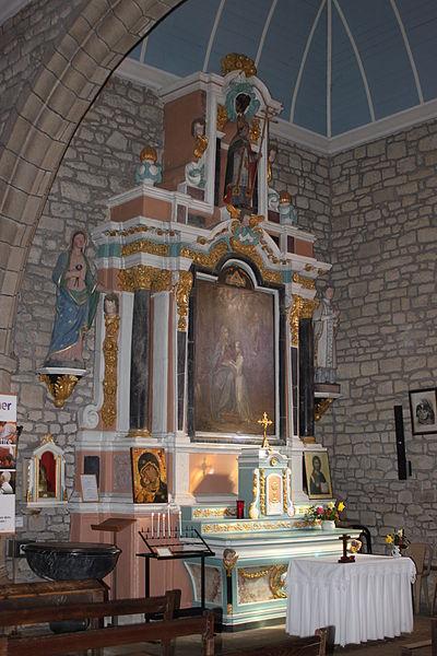 Chapelle du transept sud de l'église Saint-Thuriau (1809), Fr-56-Crac'h.