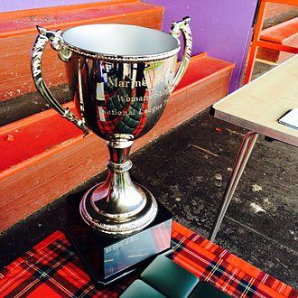 Women's shinty - The Trophy for the WCA Women's Shinty National League