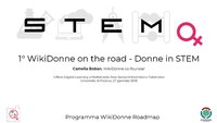 Donne in STEM. WikiDonne on the road 1, Padova, 26 gennaio 2018