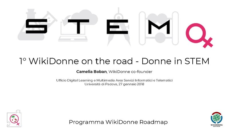 File:WDG - WikiDonne on the road 1 - Donne in STEM.pdf